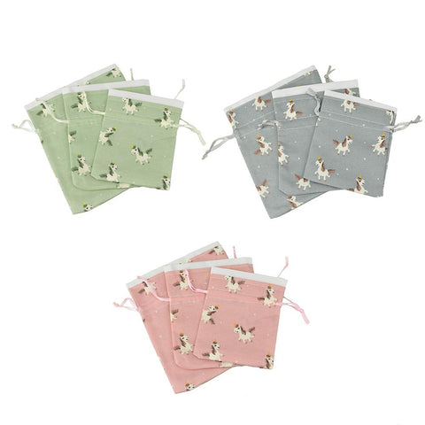 Drawstring Unicorn Pouches, Assorted Sizes, 3-Piece