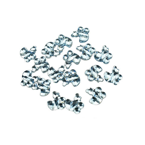 Baby Carriage Gem Confetti, 5/8-Inch, 36-Count, Blue
