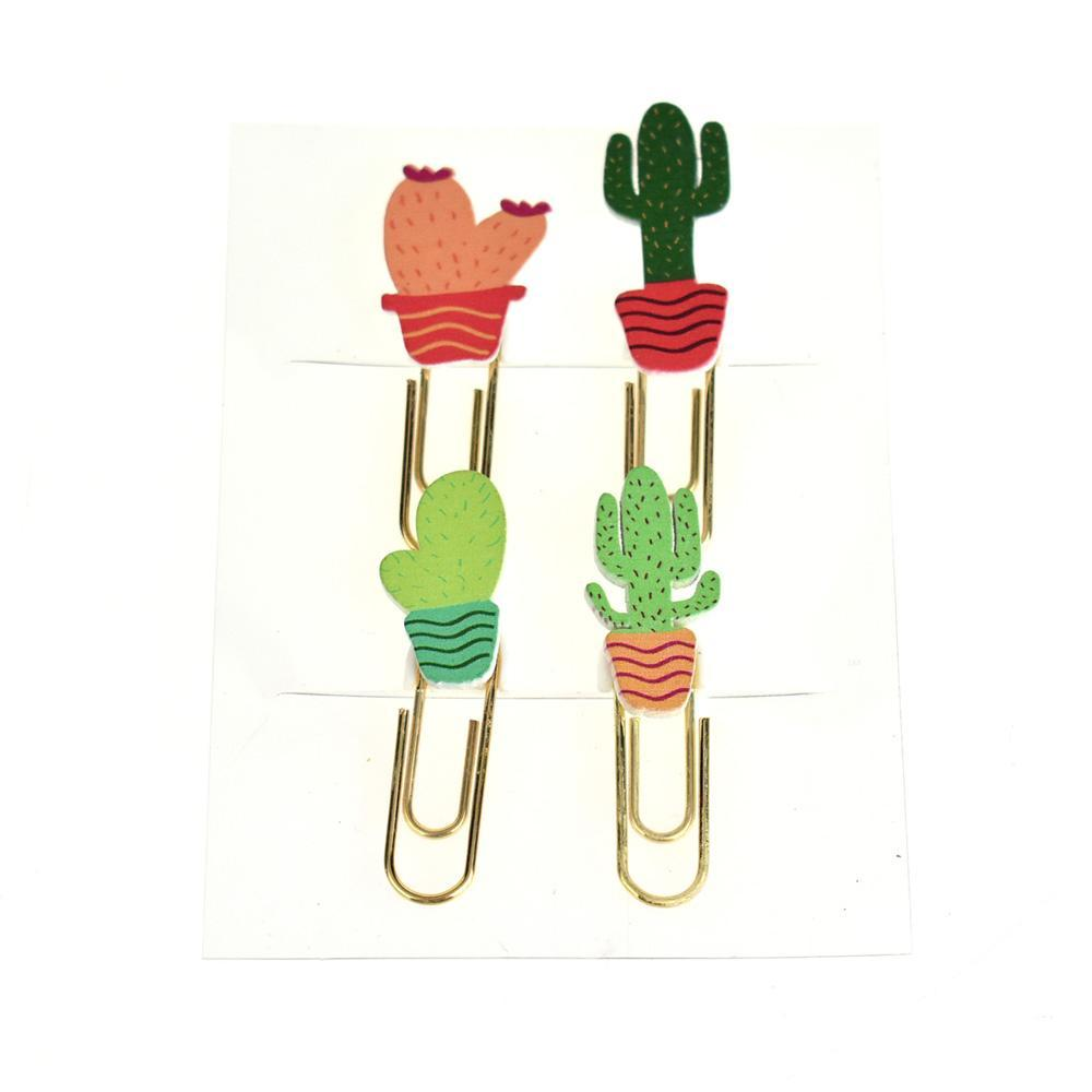 Potted Cactus Paper Clips, 4-Piece