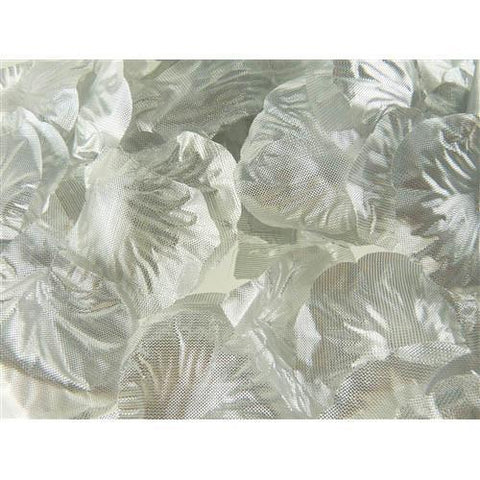 Solid Faux Rose Petals Table Confetti, 400-Piece, Metallic Silver