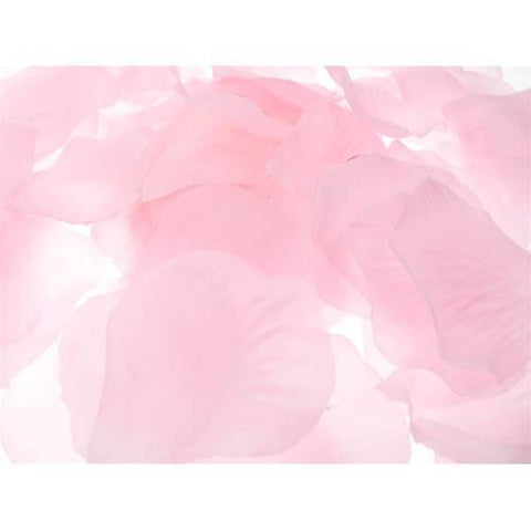 Solid Faux Rose Petals Table Confetti, 400-Piece, Light Pink