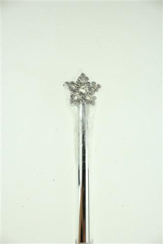 Crystal Rhinestone Scepters, 11-1/2-inch, Star, CLOSEOUT