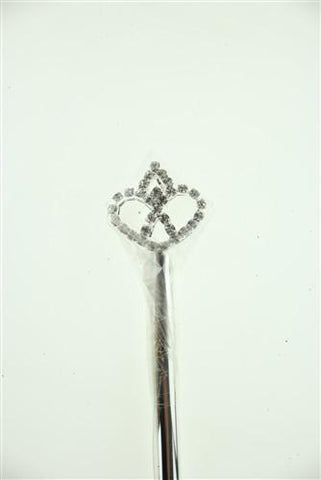 Crystal Rhinestone Scepters, 11-1/2-inch, Heart, CLOSEOUT