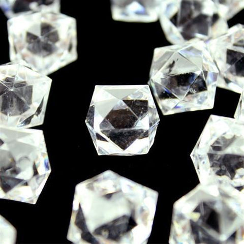 Acrylic Ice Rocks Twelve Point Star, 3/4-inch, 150-Piece, Clear