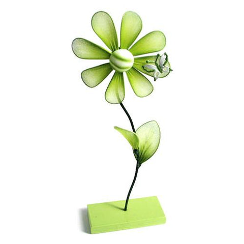Flower Place Card Holder, 10-inch, Apple Green