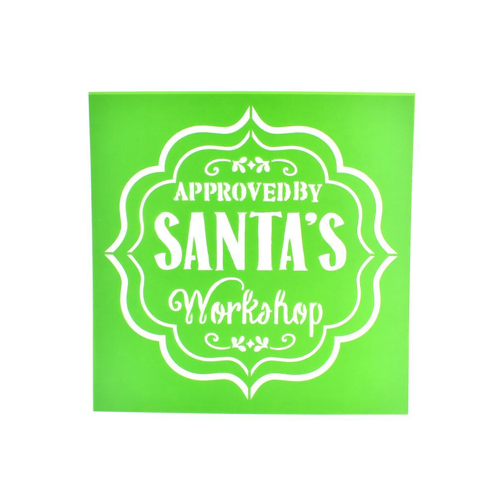 Santa's Workshop Christmas Multi-Media Stencil, 6-Inch