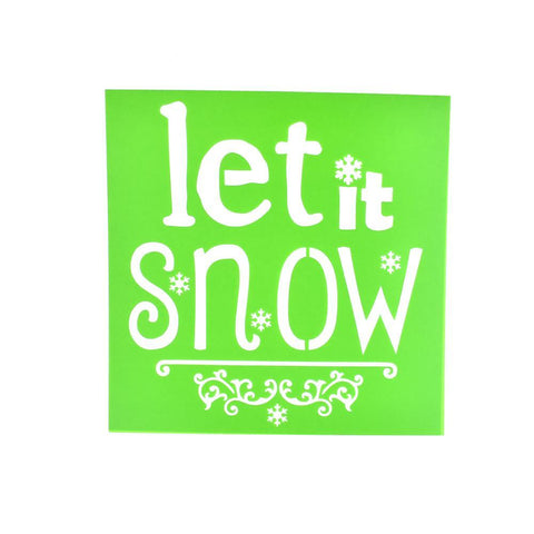 """Let it Snow"" Christmas Multi-Media Stencil, 6-Inch"