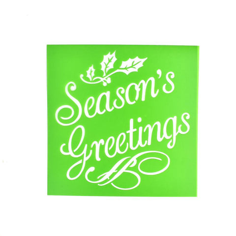 """Season's Greetings"" Christmas Multi-Media Stencil, 6-Inch"