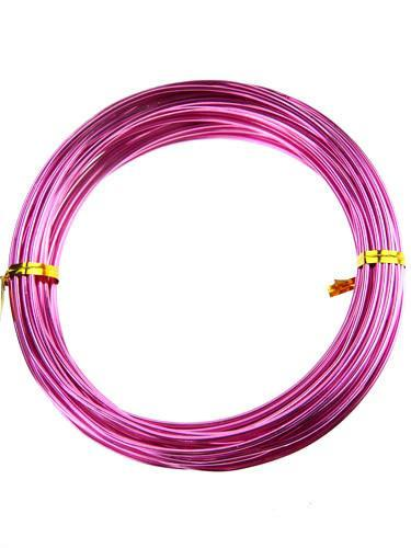 Decorative Aluminum Wire, 2mm, 13-yard, Pink