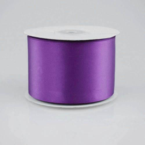 Double Faced Satin Ribbon, 2-1/2-inch, 25-yard, Purple