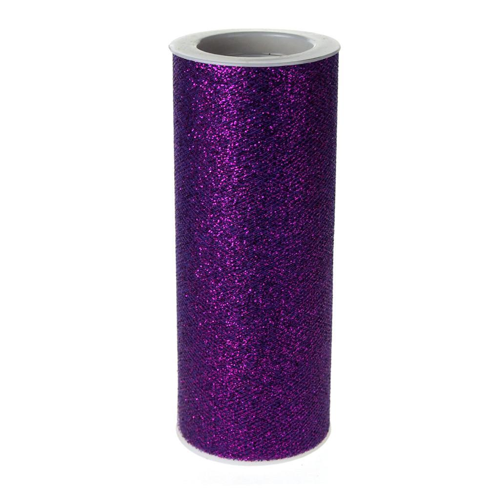 Glitter Tulle Spool Roll, 6-Inch, 10 Yards, Purple