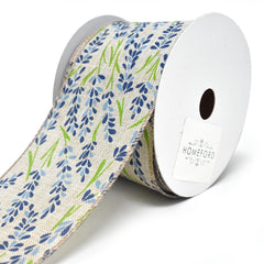 Blooming Hyacinth Wired Linen Ribbon, 2-1/2-Inch, 10-Yard