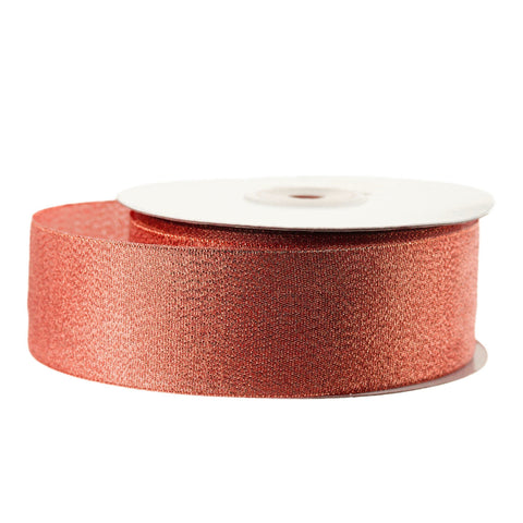 Metallic Taffeta Christmas Ribbon, 1-1/2-inch, 25-yard, Red