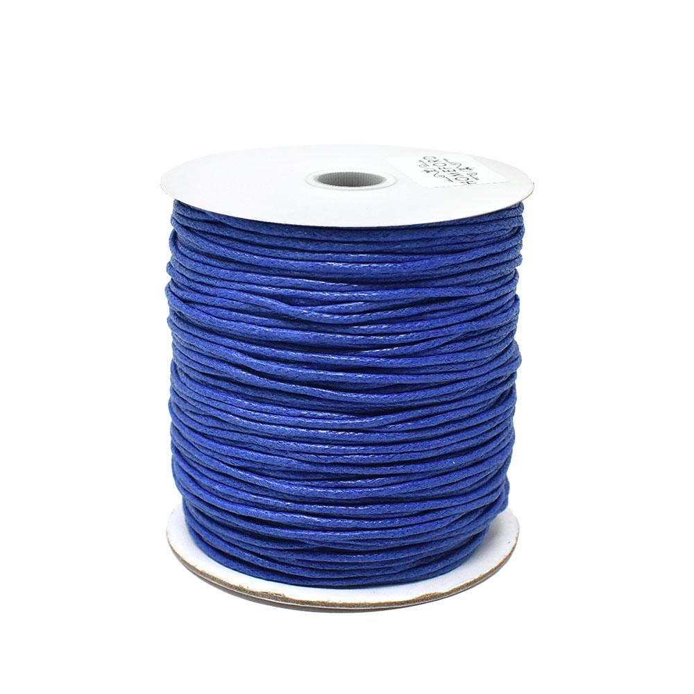 Waxed Cotton Cord, Blue, 1/16-Inch, 100-Yard