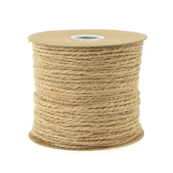 Jute Twine Cord Rope Ribbon, 1/16-Inch, 100 Yards, Natural
