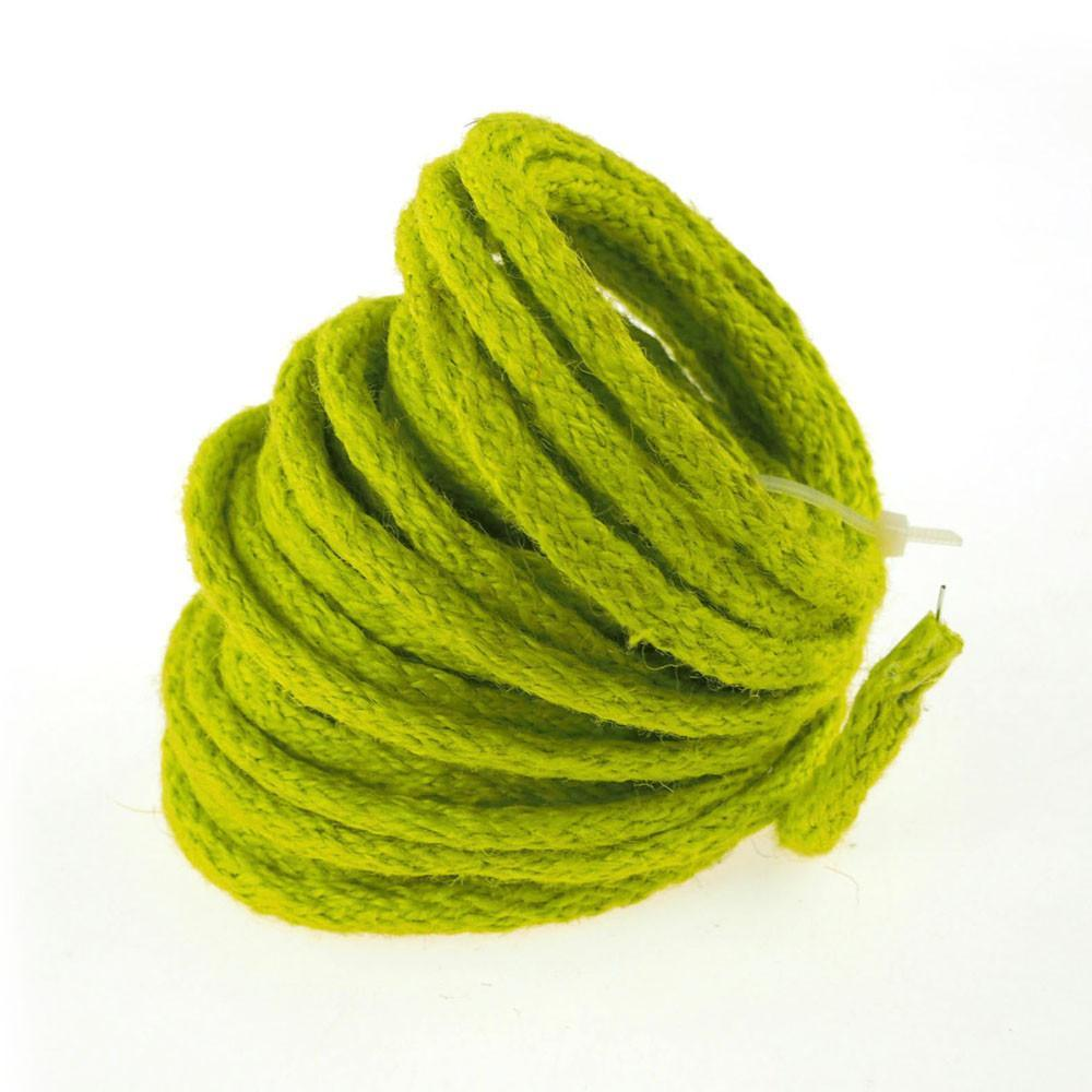 Wired Jute Cord Rope Packaging, 8mm, 9 Yards, Apple Green