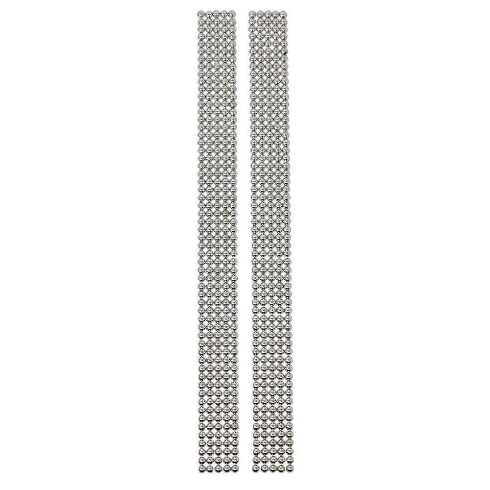 Rhinestone Dots Sticker Strips, Silver, 11-3/4-Inch, 2-Count