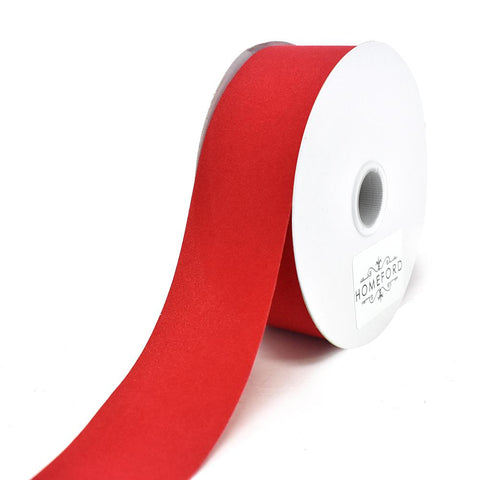 Christmas Velvet Cut Edge Ribbon, Red, 1-1/2-Inch, 25-Yard