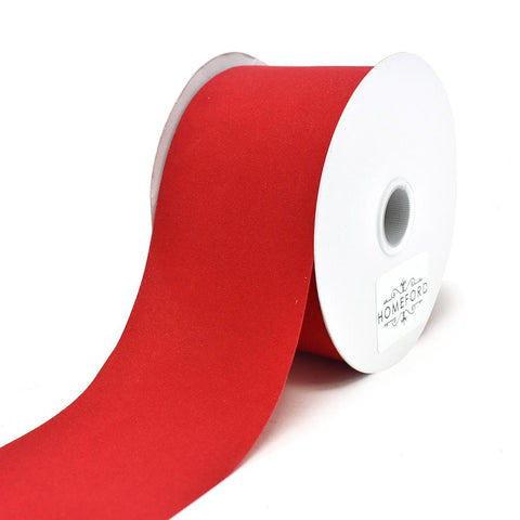 Christmas Velvet Cut Edge Ribbon, Red, 2-1/2-Inch, 25-Yard