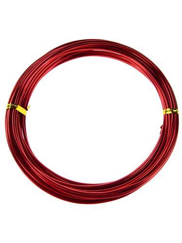 Decorative Aluminum Wire, 2mm, 13-yard, Red