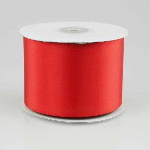 Double Faced Satin Ribbon, 2-1/2-inch, 25-yard, Red