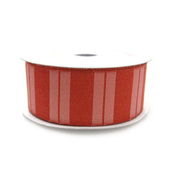 Color Vertical Lines Poly Ribbon, 1-1/2-Inch, 10 Yards, Red