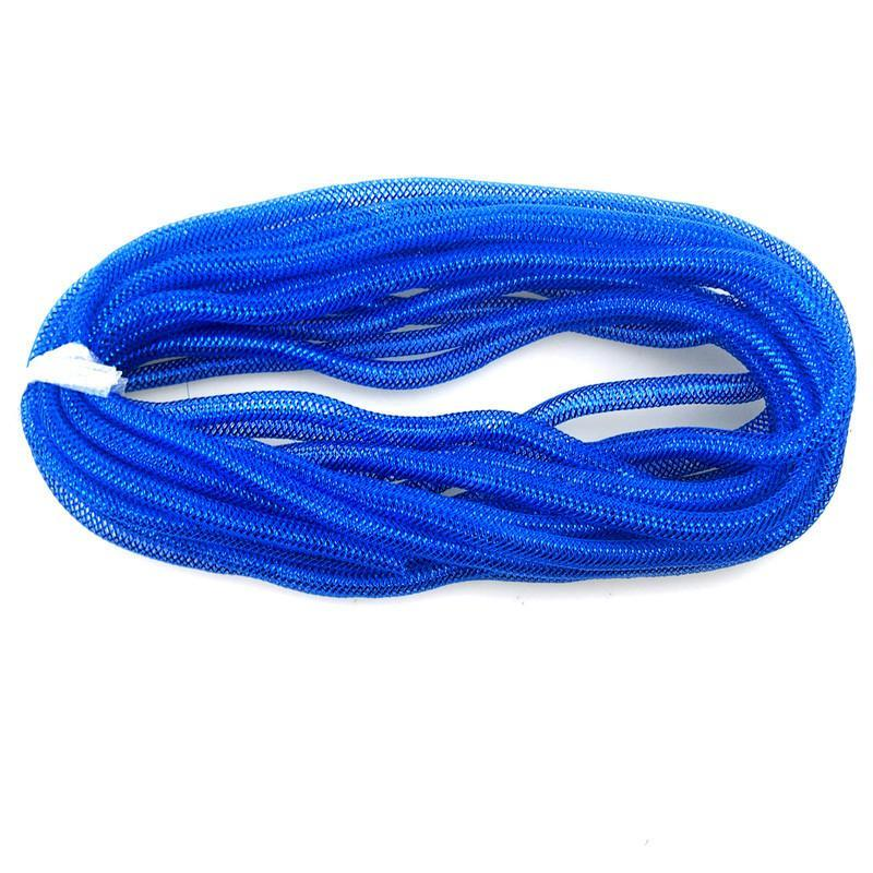 Solid Mesh Tubing Deco Flex Ribbon, 8mm, 10 Yards, Royal Blue