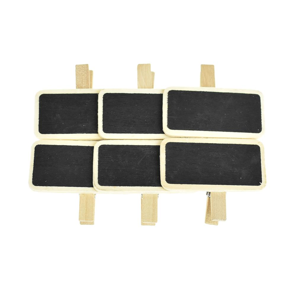 Wooden Chalkboard Sign Clips, 2-Inch, 6-Piece