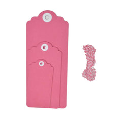 Cardstock Tag Medley Set, 12-Piece, Hot Pink