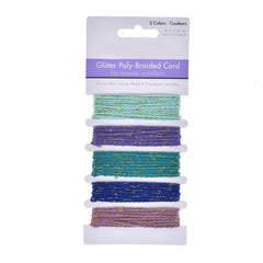 Glitter Poly-Braided Cord Trim, 5-Piece