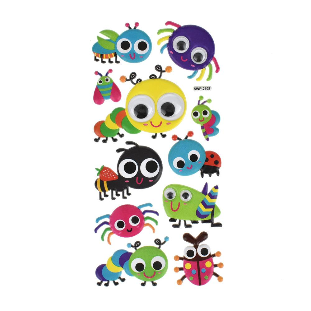 A Bug's Life Googly Eye Puffy Stickers, 11-Piece