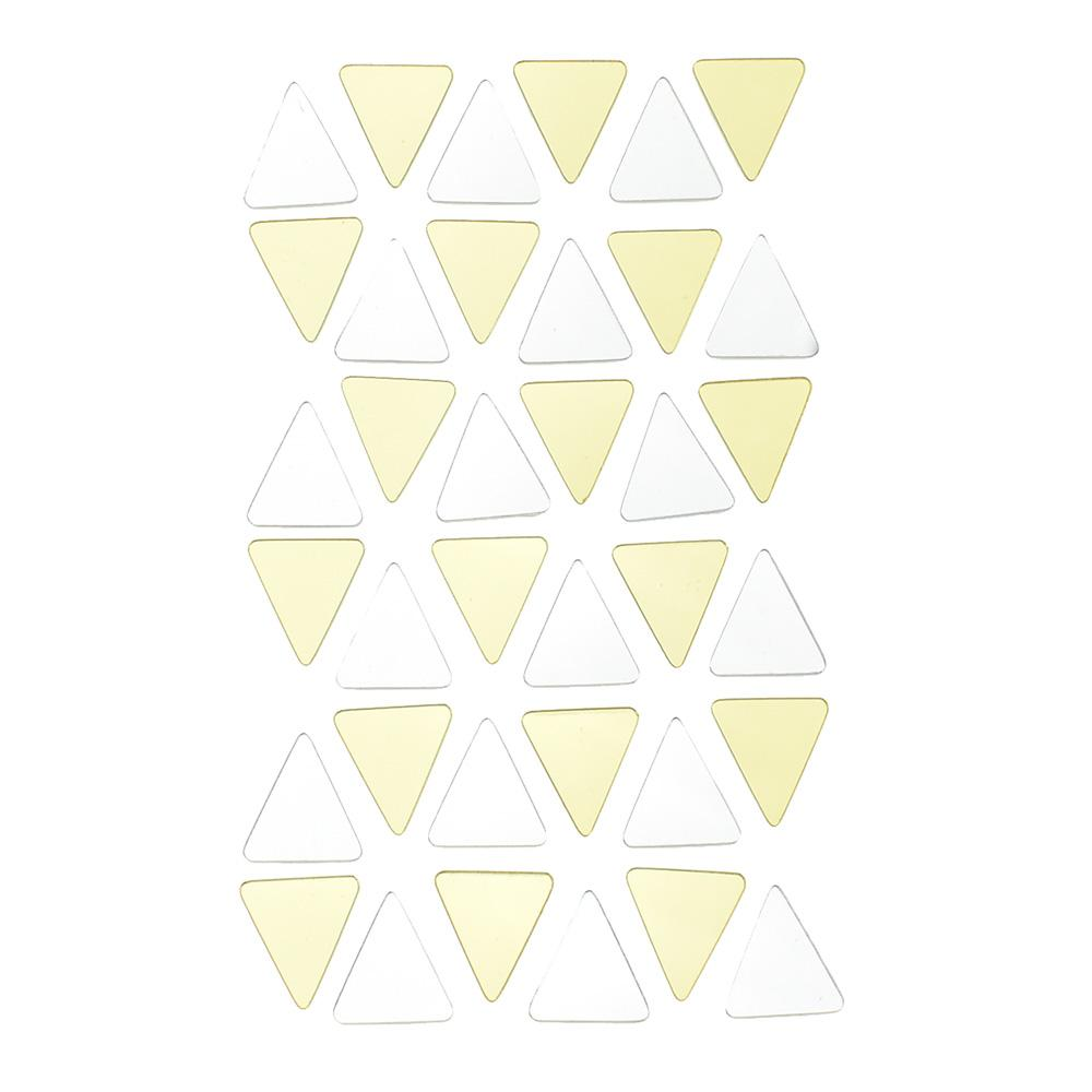 Mini Triangles Reflective Stickers, 36-Piece