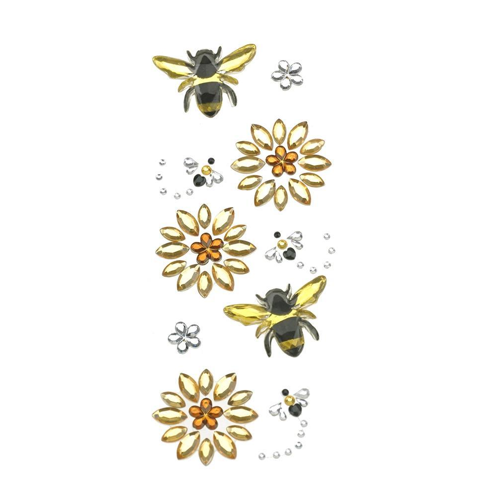 Busy Bee Bling Gem Accent Stickers, 10-Piece