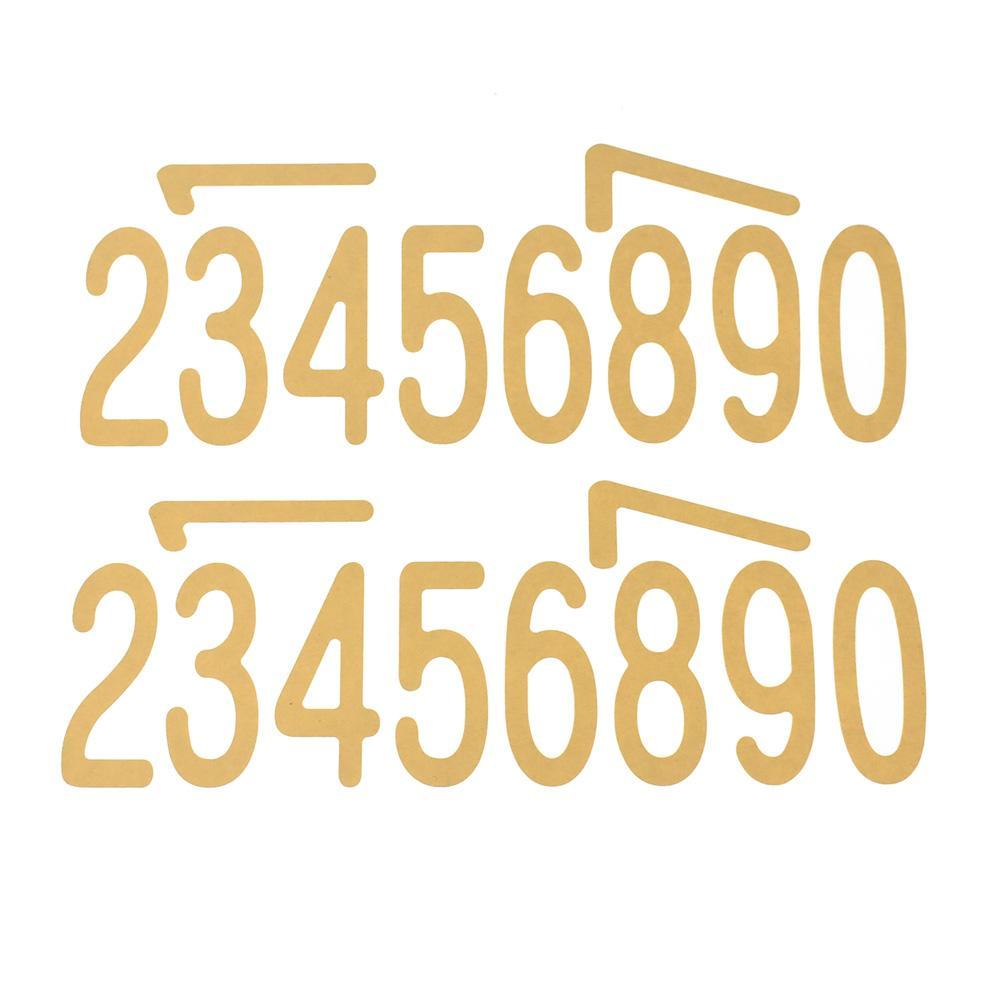 Biggie Fonts Numbers Stickers, 3-Inch, 40-Piece, Kraft