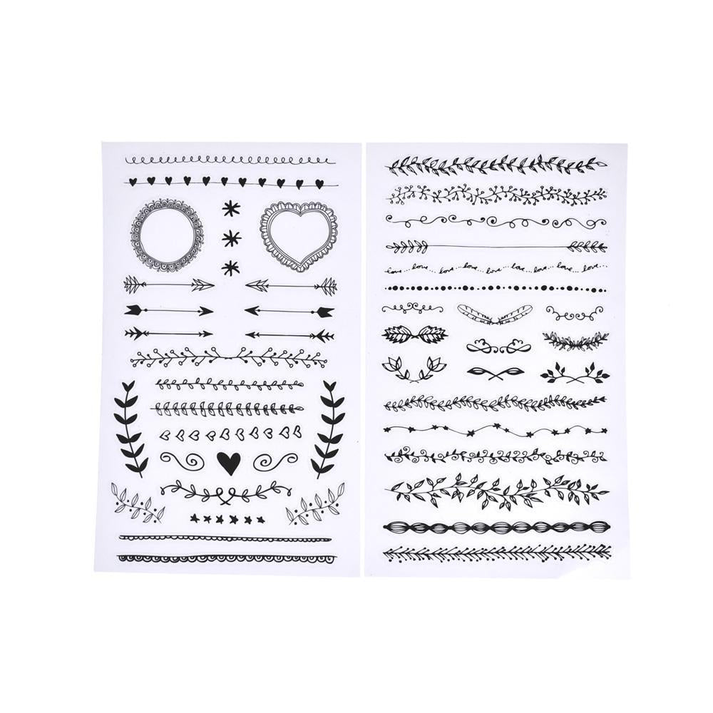 The Little Things Clear Border Stickers, 33-Piece
