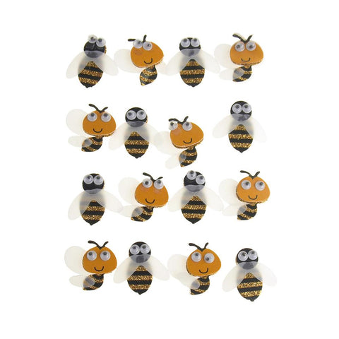 Bee Life 3D Handmade Stickers, 16-Count