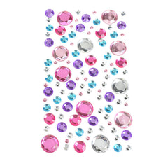 Round Bubble Gems 3D Rhinestone Stickers, 100-Piece
