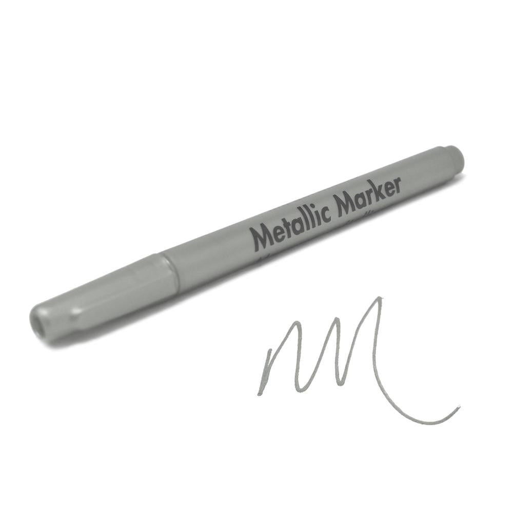 Metallic Marker 0.7mm Extra Fine Point, 5-1/2-Inch, Silver