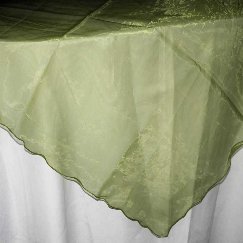 Organza Table Cover Overlay, 80-inch, Sage Green