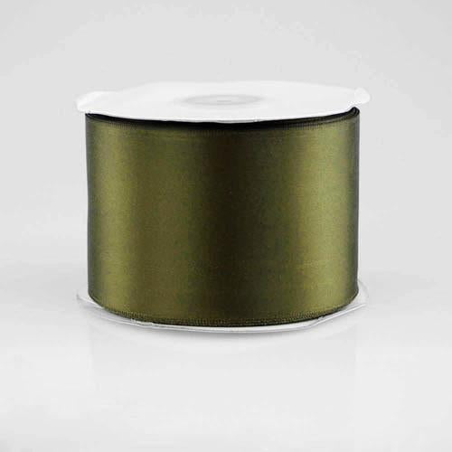 Double Faced Satin Ribbon, 2-1/2-inch, 25-yard, Moss Green