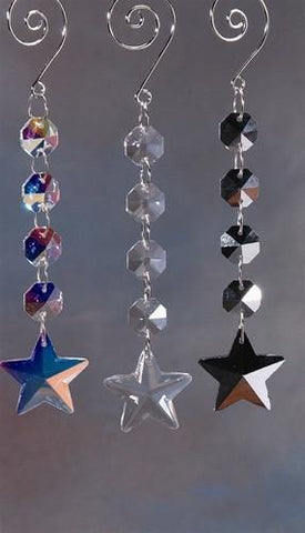 Acrylic Chandelier Crystals, Star Link, 6-Inch, Clear
