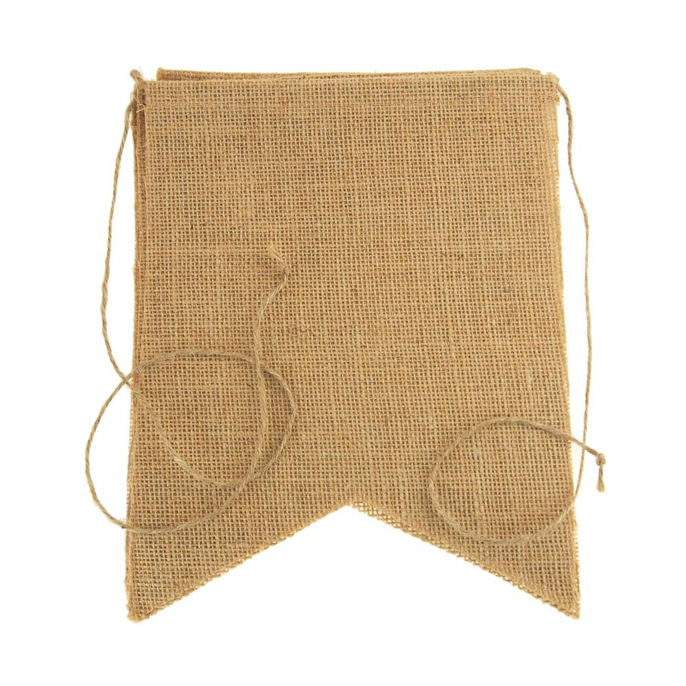 Natural Burlap Banner, Rectangle, 8-Inch x 10-Inch, 5-Piece