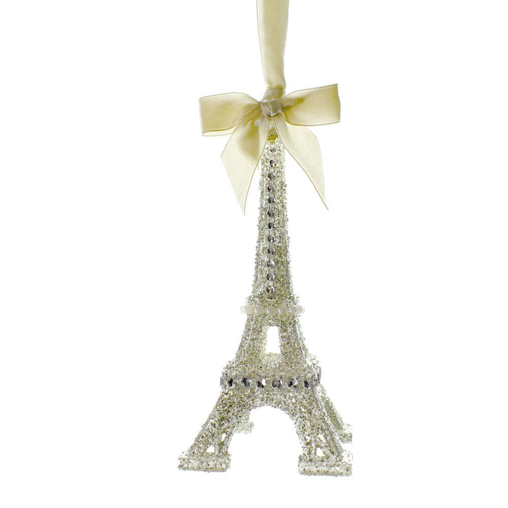 Vintage Glamour Eiffel Tower Christmas Ornament, 6-Inch