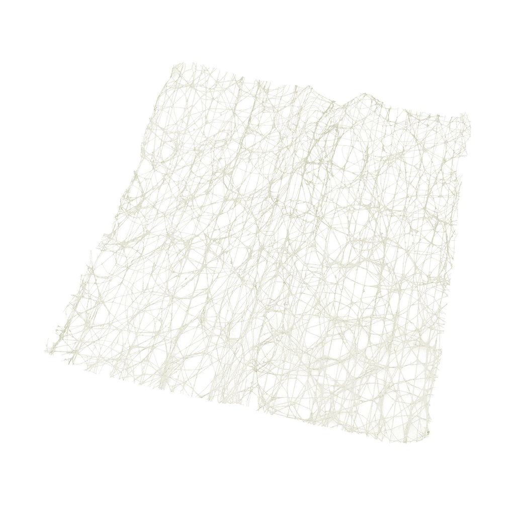 Rustic Faux Sisal Square, Off-White, 16-Inch