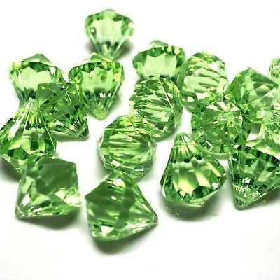 Acrylic Crystal Hanging Decor, 1-Inch, 100-Piece, Apple Green