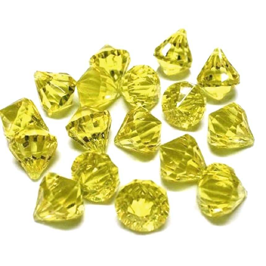 Acrylic Crystal Hanging Decor, 1-Inch, 100-Piece, Yellow