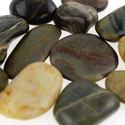 River Stones Pebbles Garden Rocks, Assorted, 1-1/2-inch