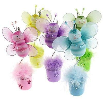 Bee Flower Pot Place Card Holder, 6-Inch - CLOSEOUT