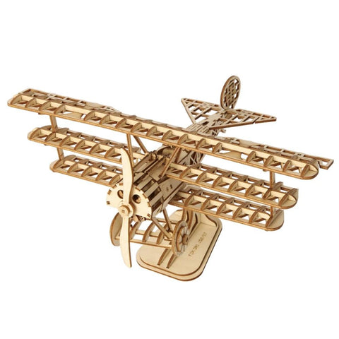Airplane Modern 3D Wooden Puzzle, 8-1/4-Inch