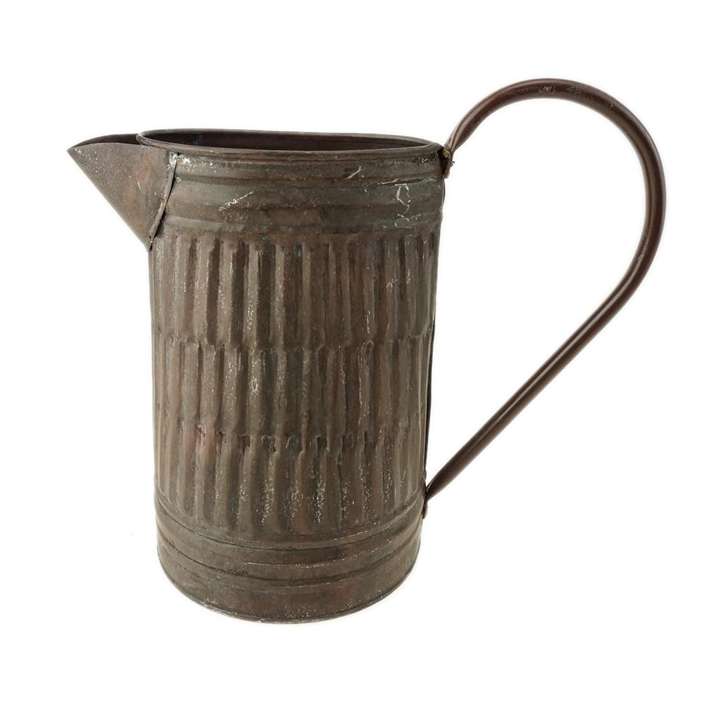 Copper Galvanized Pitcher, 7-1/2-Inch